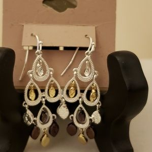 Jewelry - Gold and Silver Dangle Earings